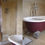 Close up of Shower and Bath