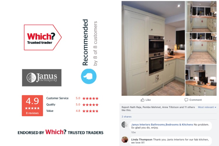 Our trusted trader review rating and kitchen installed for Linda Thompson