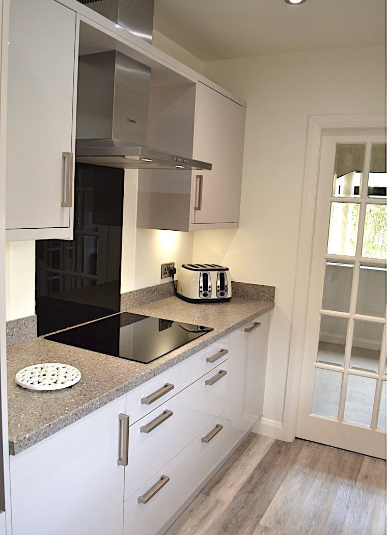 The Galley style kitchen installed in Bingley