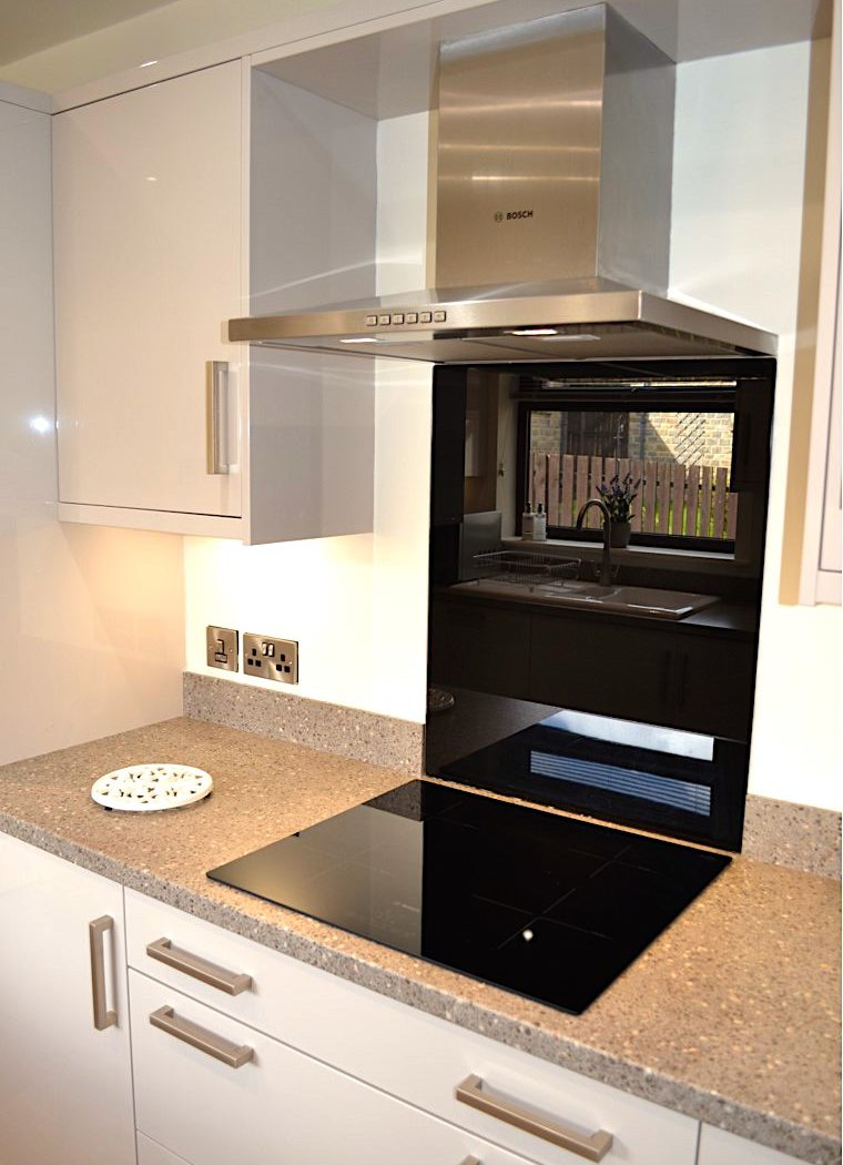 induction hob fitted in new designer kitchen in Eldwick near Bingley