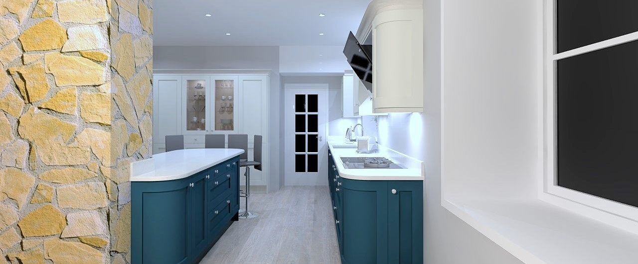 3D CAD computer generated kitchen design Bingley