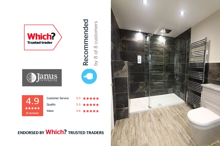 new bathroom installed by trusted trader Janus Interiors