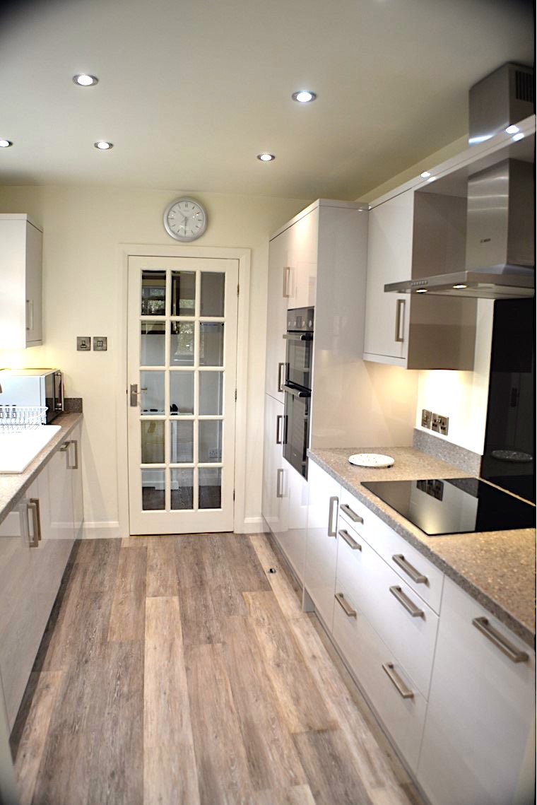 galley style kitchen at Eldwick near Bingley