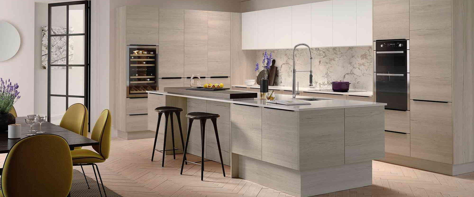 woodgrain white oak kitchen