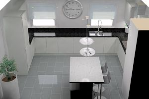 New Kitchen designed with 3D CAD Harden near Bingley & Keighley