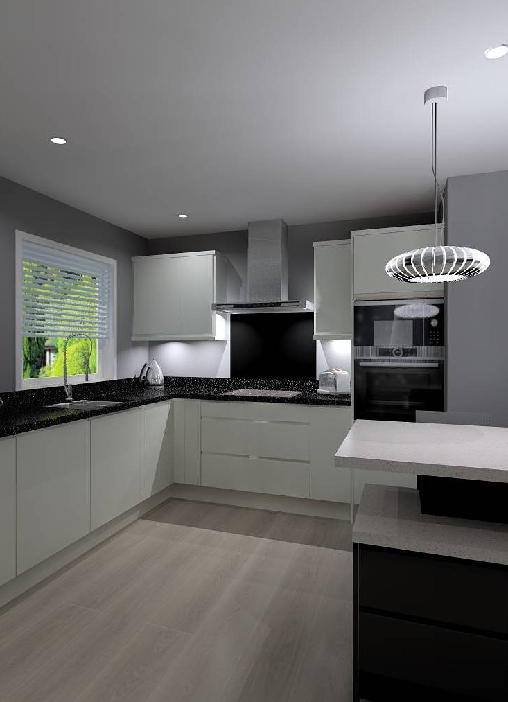 CAD 3D Computer generated kitchen design for kitchen in Harden near Bingley