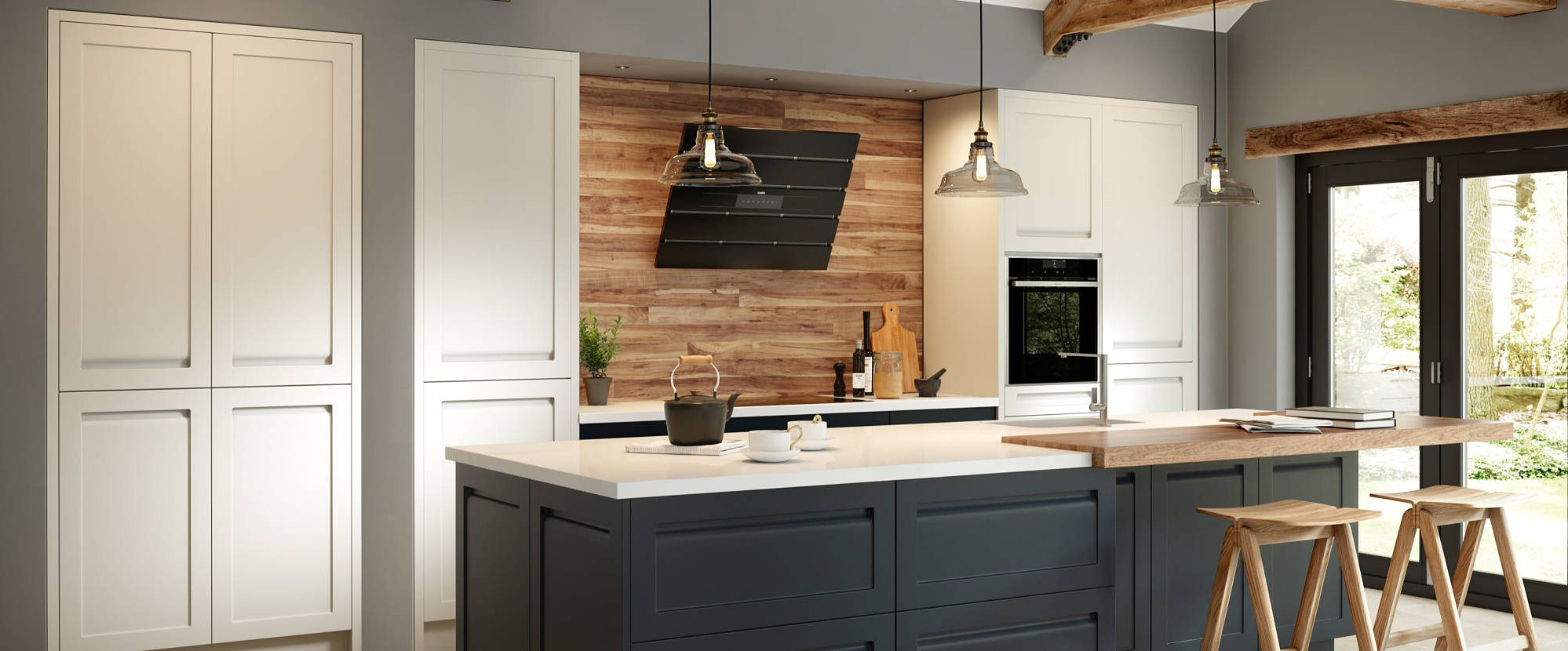 Savoy Painted Limestone and Anthracite Classic Style Kitchen
