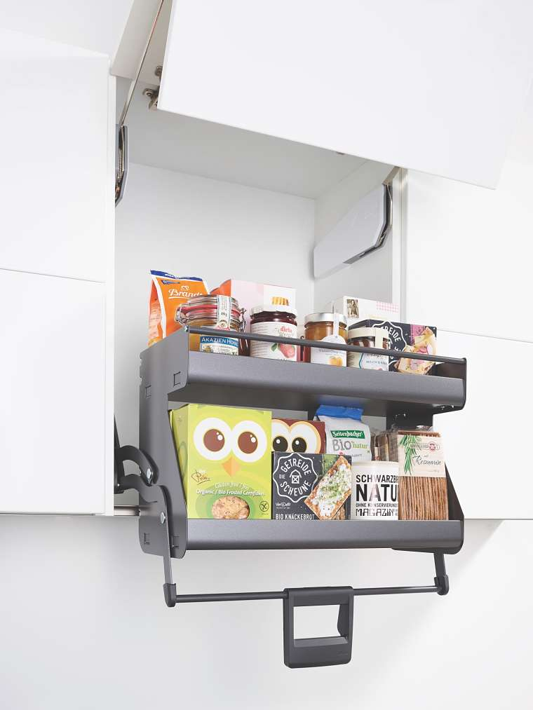 The iMove Pull Down Cupboard shelving by Sheraton