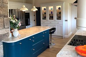 Island kitchen installed in Bingley, West Yorkshire by Janus Interiors Bingley