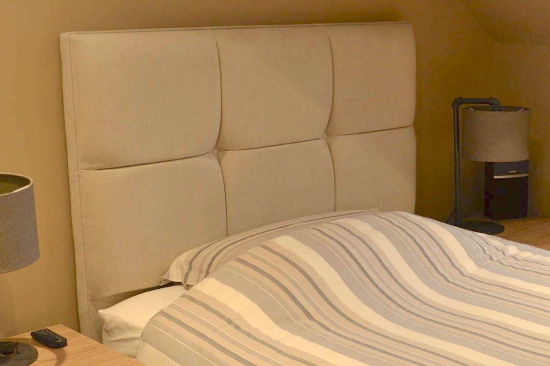 bedroom padded bedhead