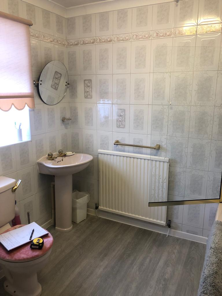 before - the old bathroom
