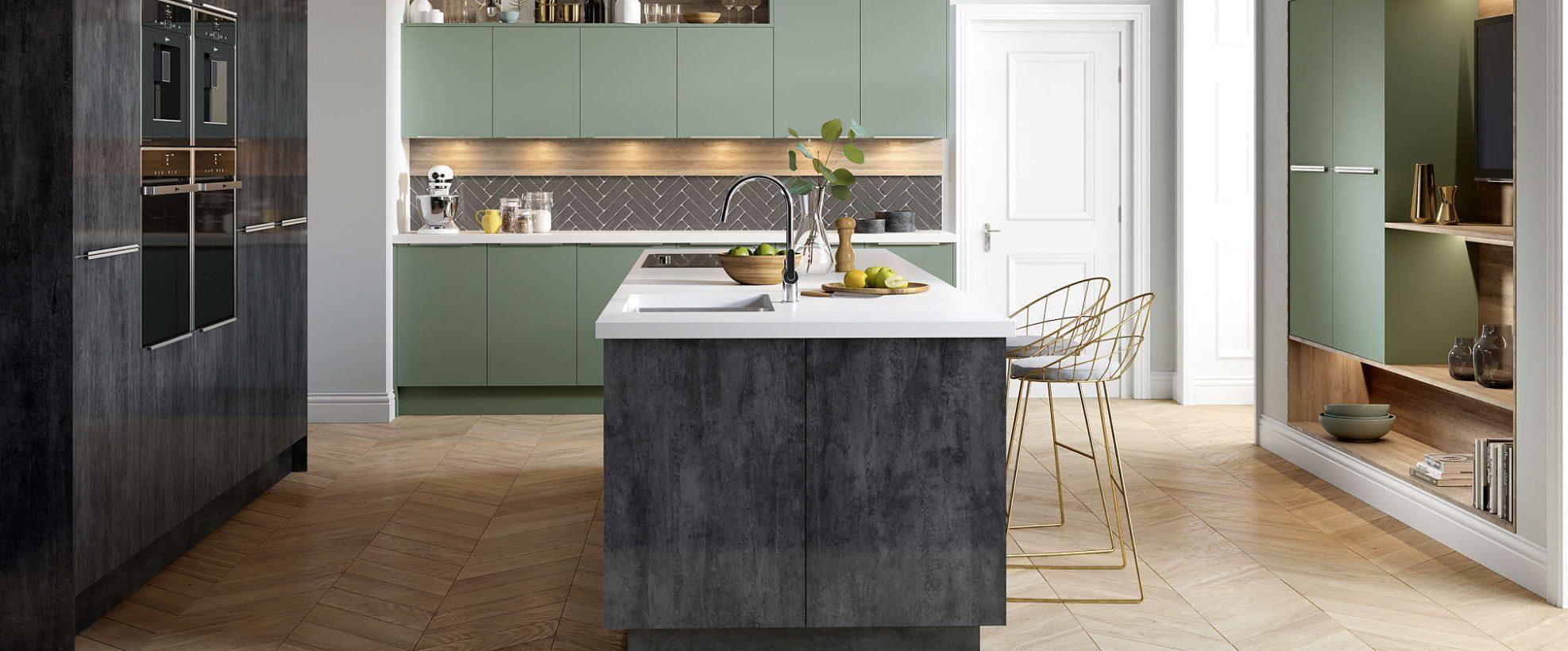 Cube Metallic Lustre Kitchen