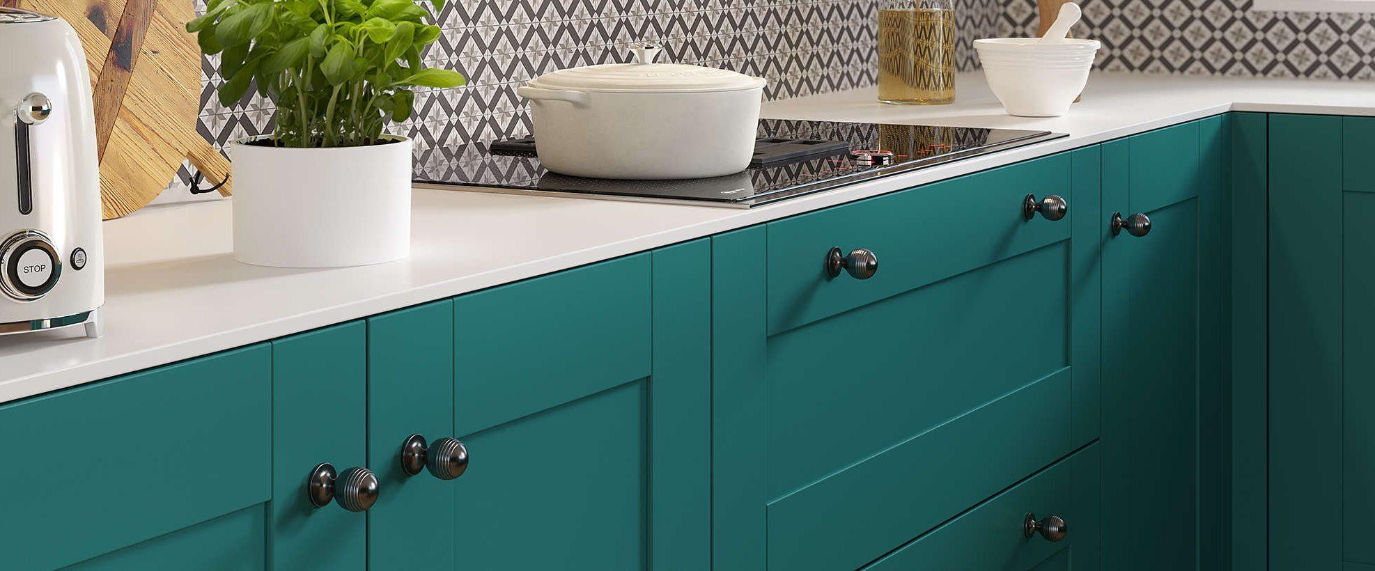 Nouveau Turquoise Blue Kitchen