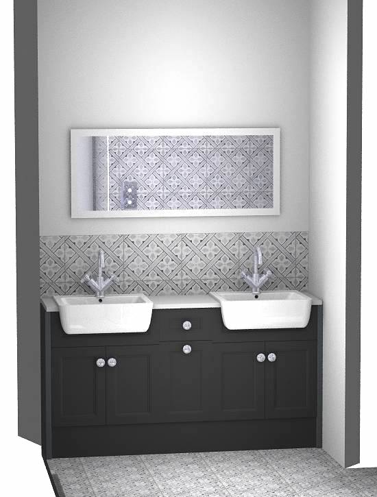 twin sink bathroom design
