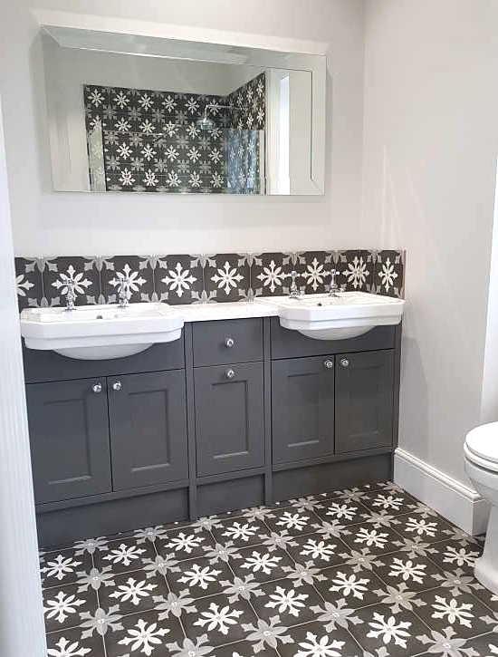 twin sink bathroom