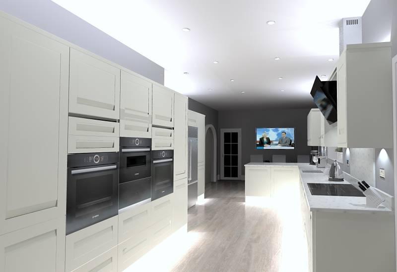 3D computer generated kitchen design