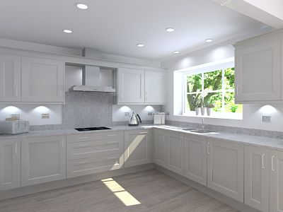 3D Design for easy access open plan kitchen diner
