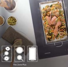flexible cooking zones on the Samsung Induction hob
