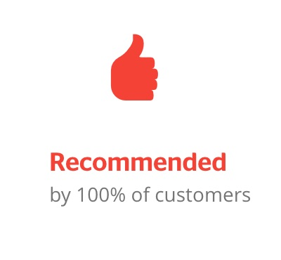 100% recommended by trusted trader customers
