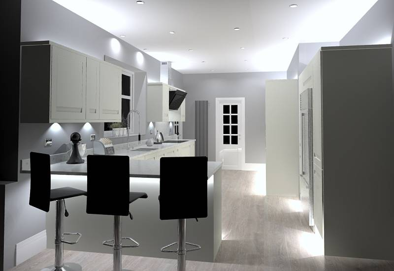 3D design for kitchen installed near Bingley
