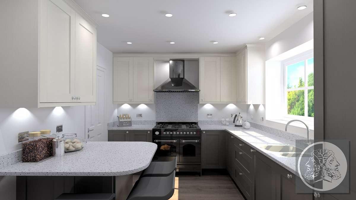 Ilkley kitchen design with breakfast bar