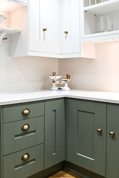 kitchen in kitchen showroom